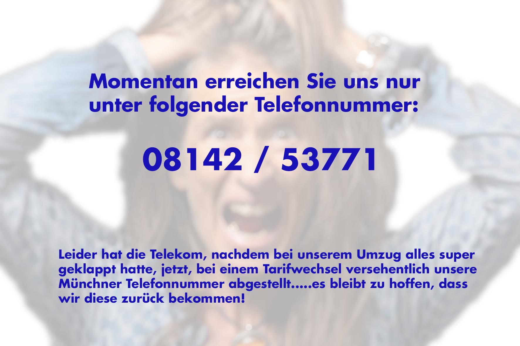 Telefonnummer neu Hinweis