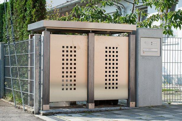 Beispiel Mülltonnenbox für München
