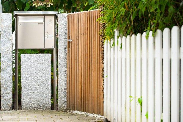 Gartenbau Zaun und Gartentür
